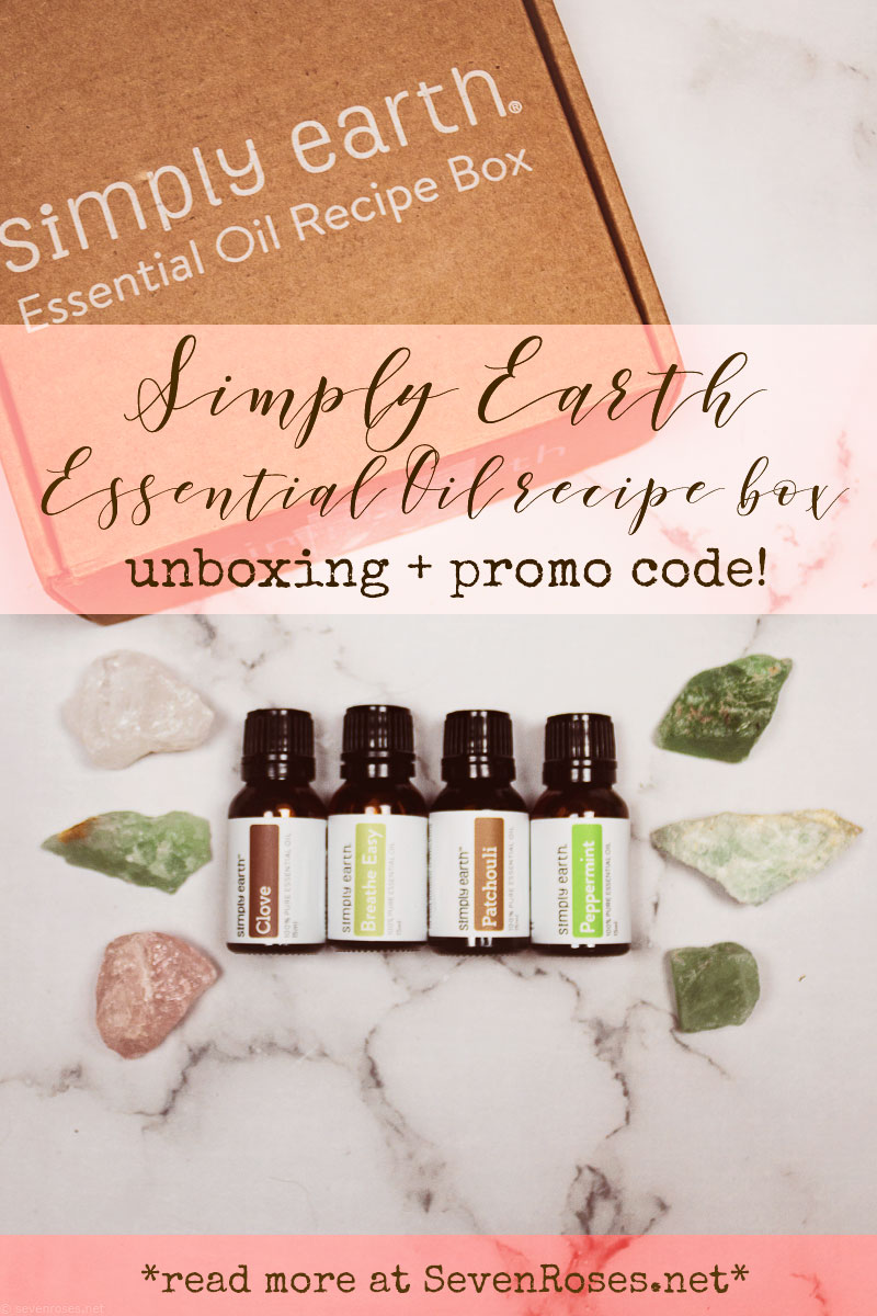 Simply Earth Essential Oil recipe box unboxing