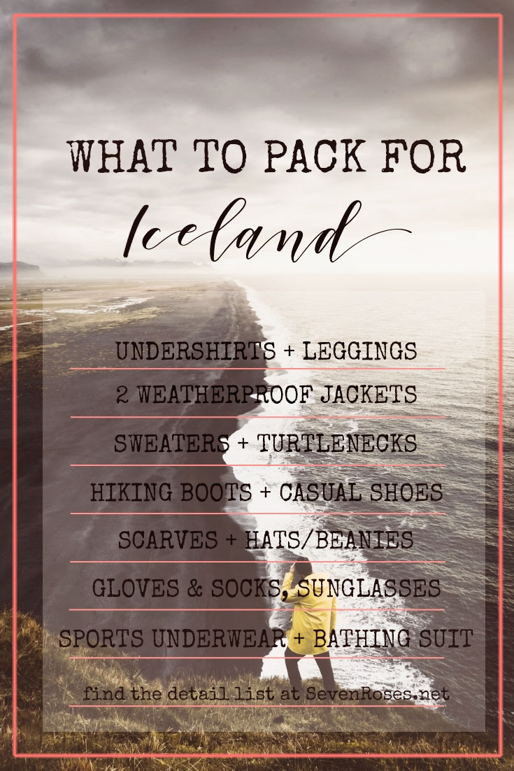 How and what to pack for Iceland in a carry-on? Here's a detailed list in order to be prepared for both adventure in the wild and city strolls in Reykjavik #iceland #travellight #carryon