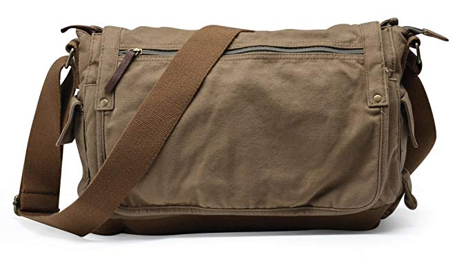 Gootium Canvas Messenger Bag - Vintage Cross Body Shoulder Satchel
