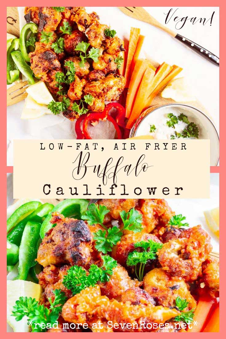 Low-Fat Buffalo Cauliflower – Air Fryer