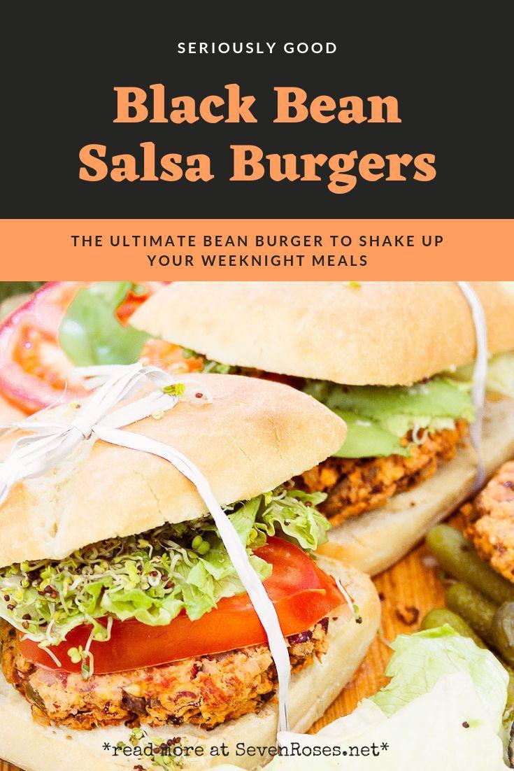 Black Bean Salsa Burgers