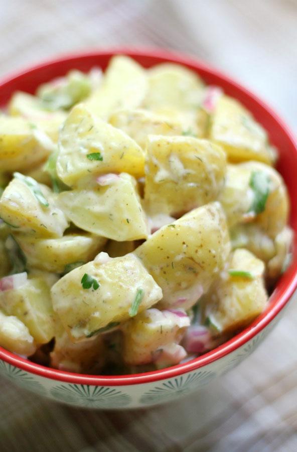 Classic american potato salad