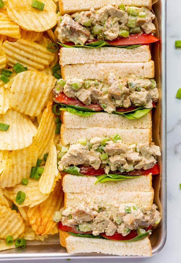 Vegan Chick'n Salad Sandwiches