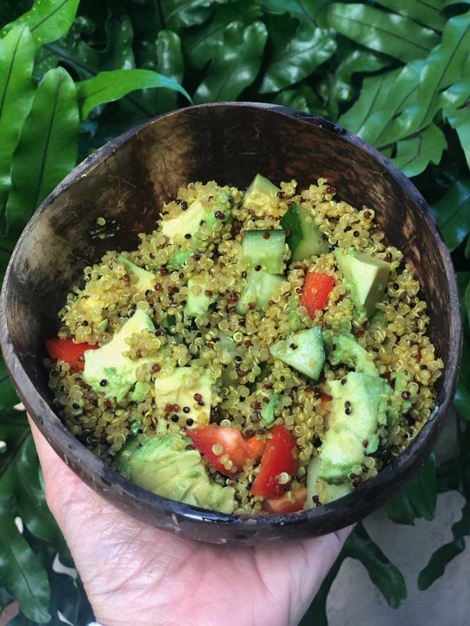 Easy Curry Quinoa Salad
