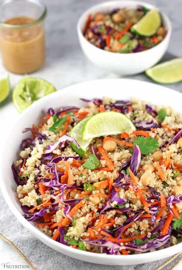 Chickpea Thai Quinoa Salad
