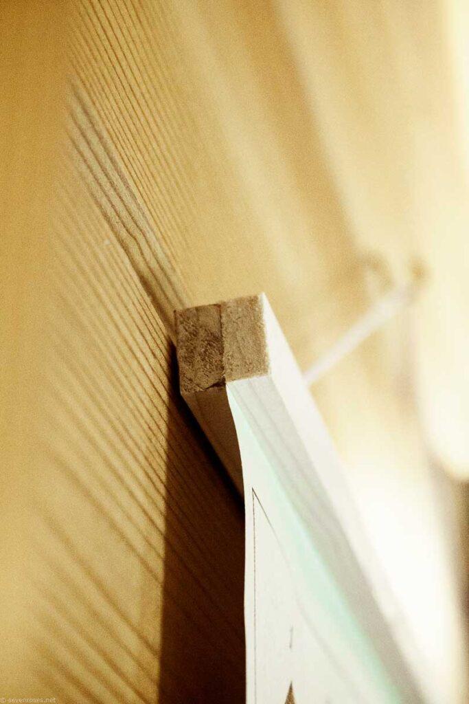 DIY Boho wooden poster hanger