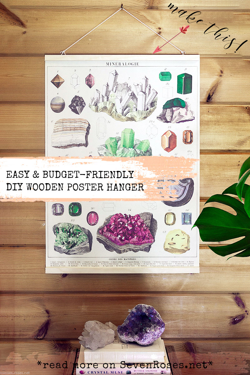 Easy & budget-friendly DIY wooden Boho poster hanger tutorial