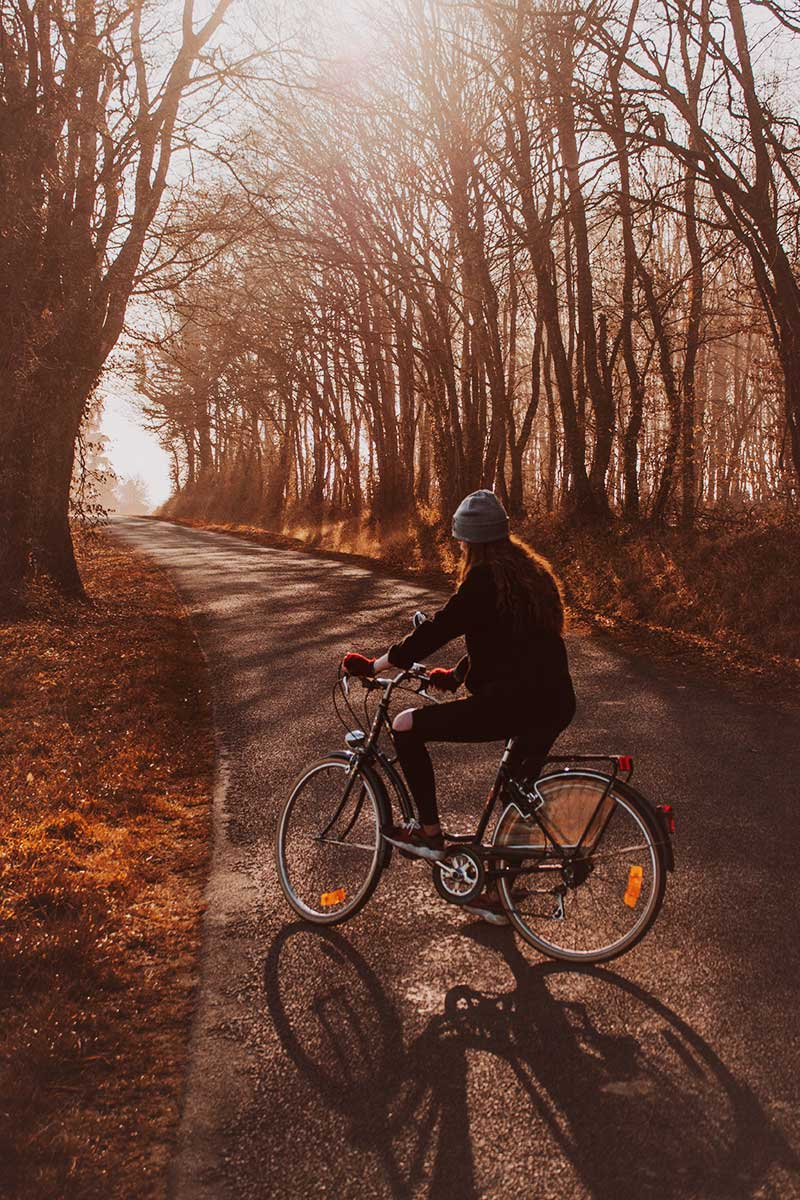 how to live a healthier life this fall: ride your bike!