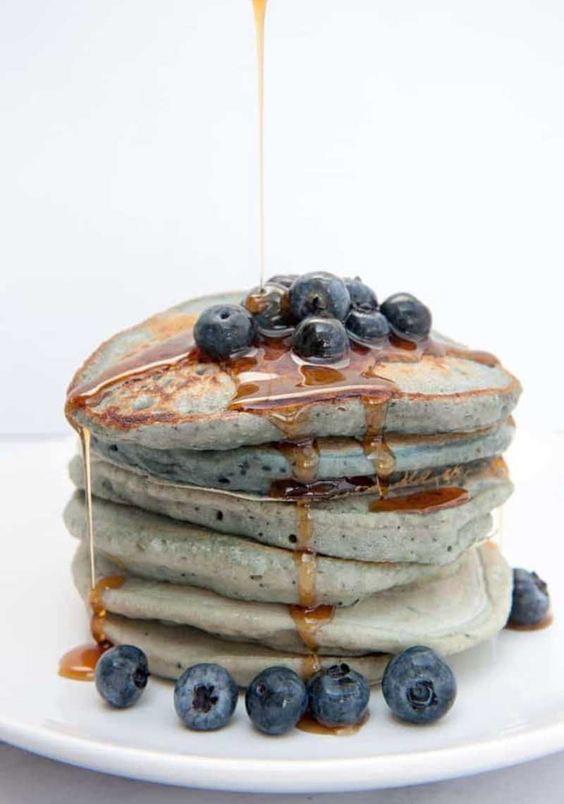 Vegan Blue-Berry Pancakes