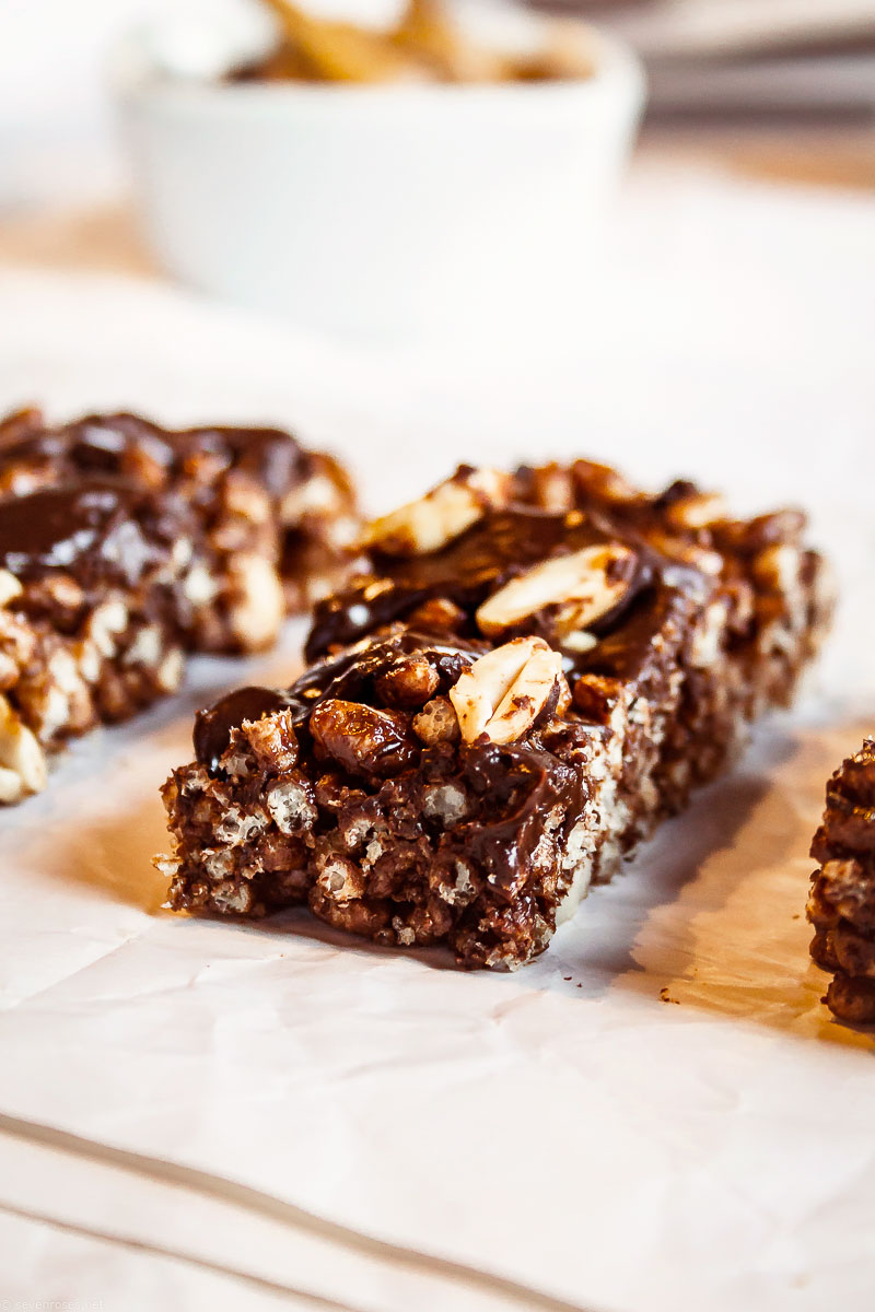 Chocolate Peanut Butter rice bars