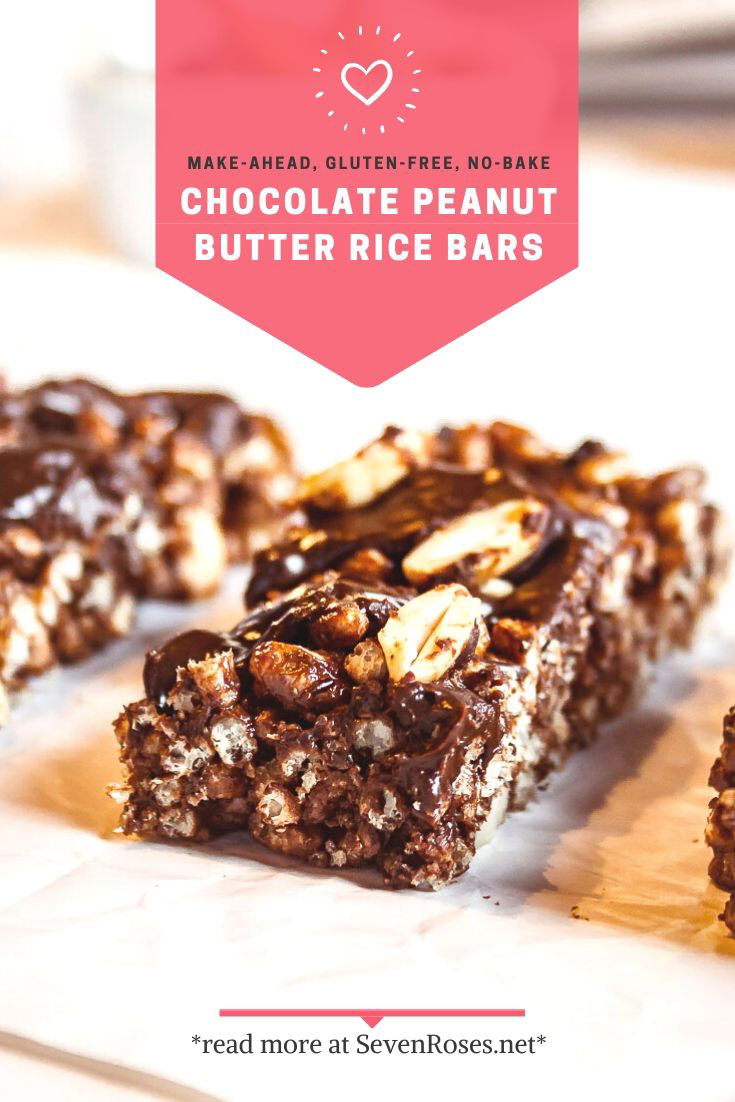 CHOCOLATE PEANUT BUTTER RICE BARS • FRESH OUTTA THE FRIDGE • UNDER 10 INGREDIENTS • GLUTEN FREE • SOY FREE