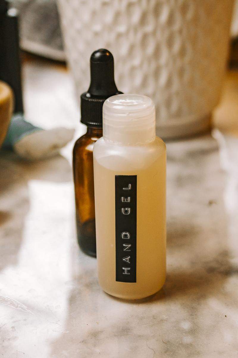 Easy DIY hand sanitizer gel