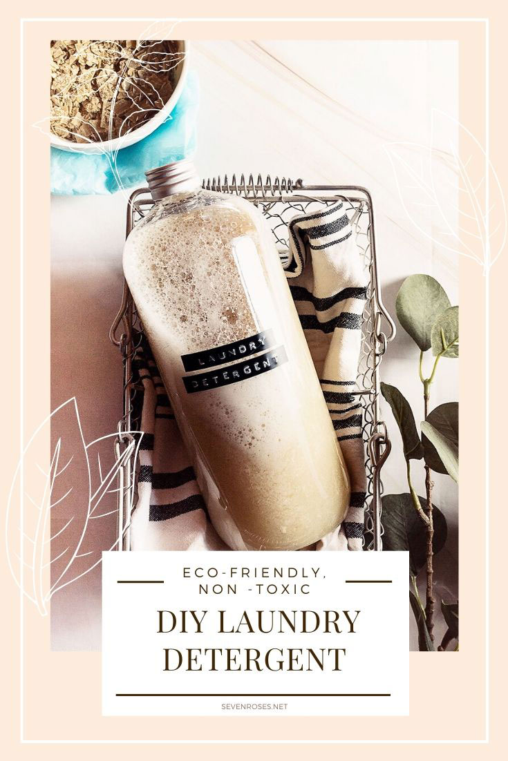 Learn how to make your own eco-friendly, non-toxic, disinfectant DIY laundry detergent with essential oils: a valid alternative to store-bought products