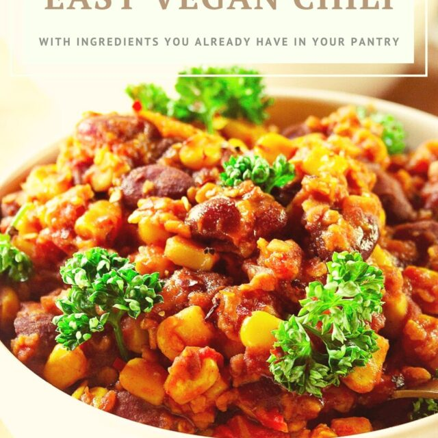 super easy vegan chili recipe