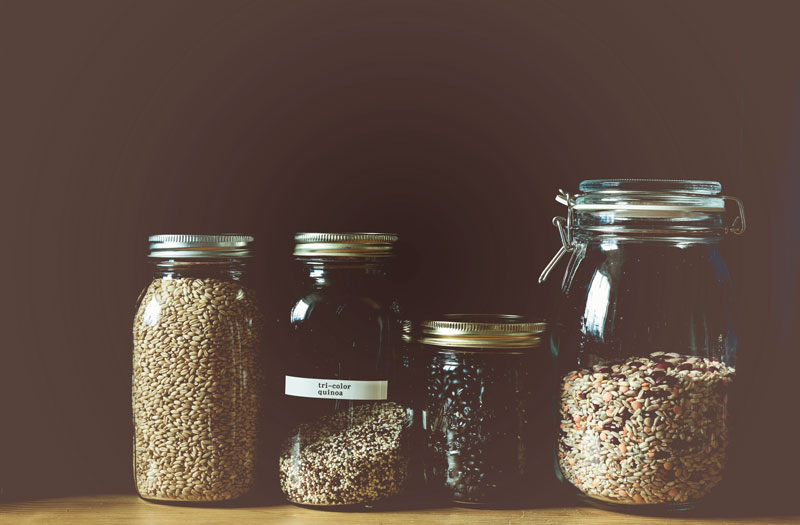 Legumes and grains are perfect Vegan pantry staples
