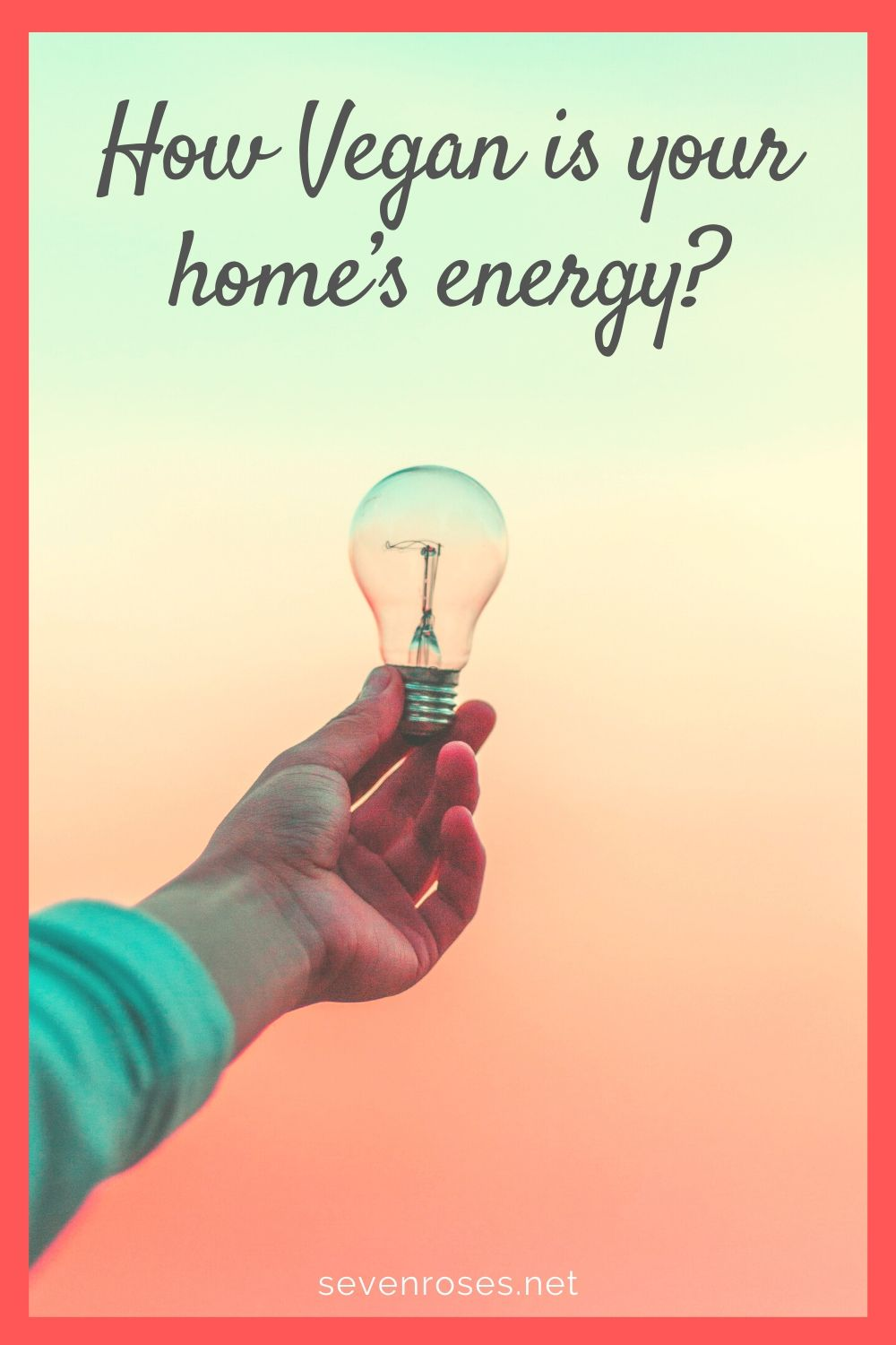 How Vegan is your home's energy?