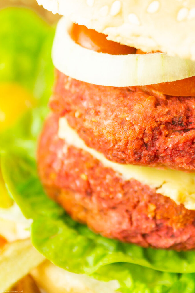 pantry staple chickpea and beet burgers for a fun burger night at home