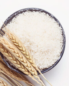 There are over 4 grams of protein in a 1-cup serving of white rice, and about 5 grams in the same size serving of brown rice.