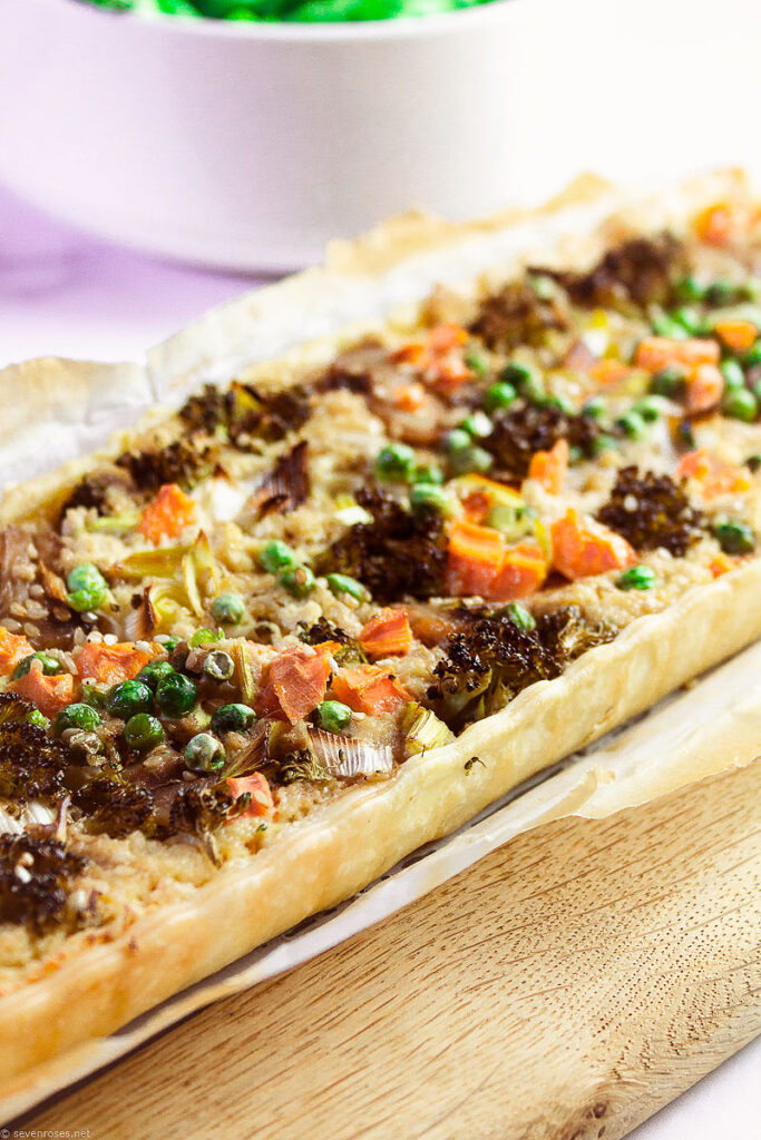 This savory Spring Vegetable Tart is indeed very similar to a quiche