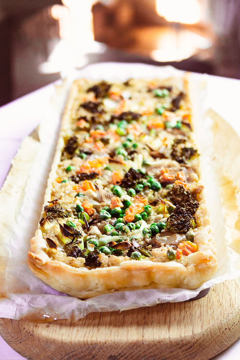 You could totally make this with veggies out of your freezer, or perhaps canned, but if you can - maybe you grow your own? - definitely make this Spring Vegetable Tart with fresh produce.