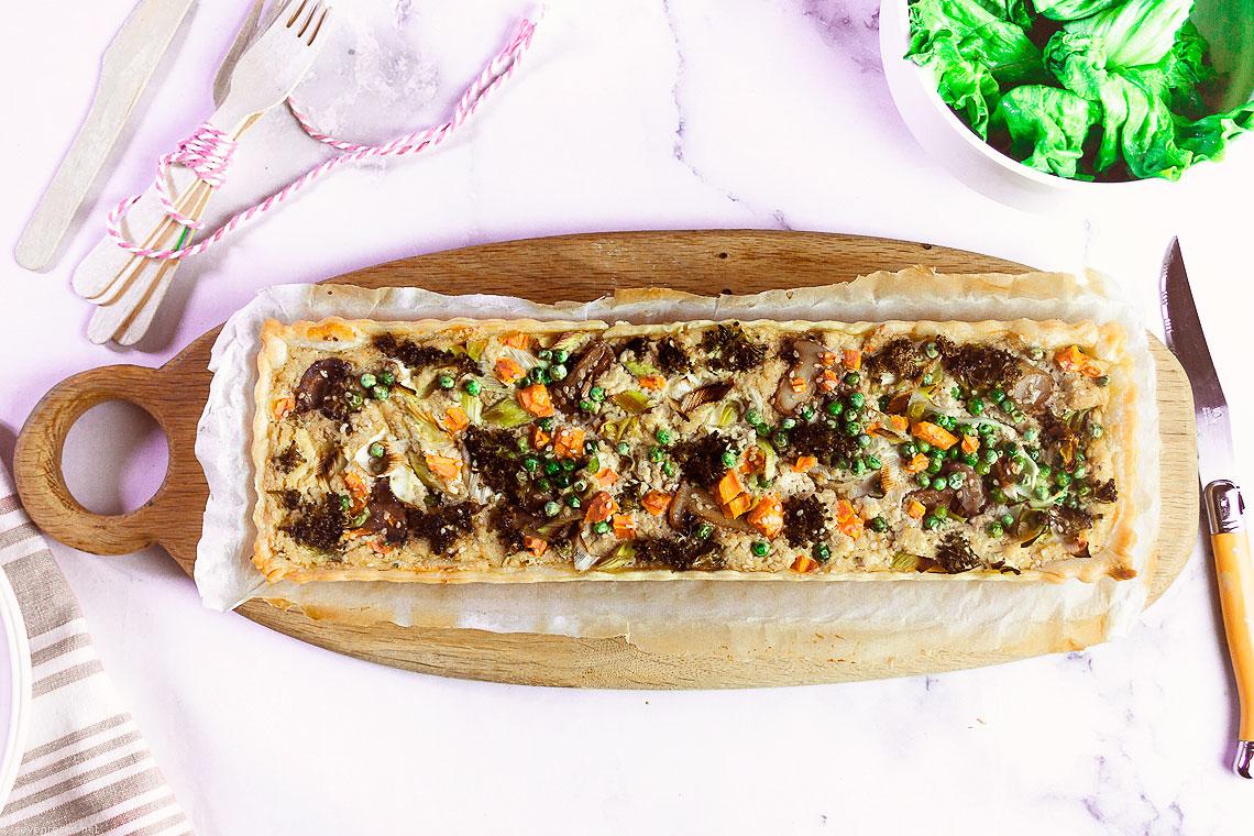Easy Vegan Spring Vegetable Tart