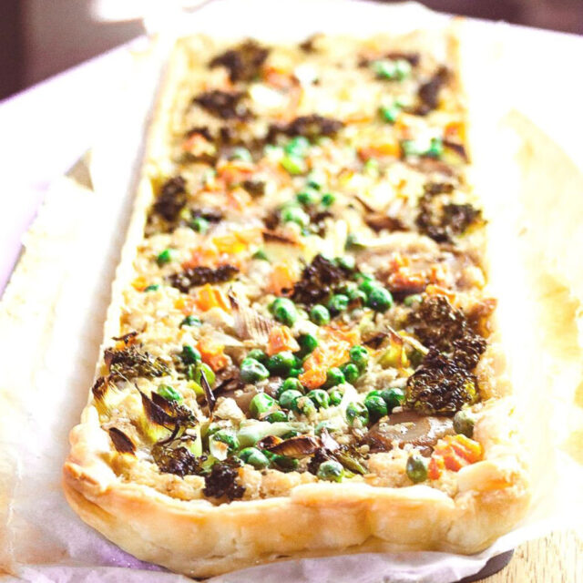 This Spring Vegetable Tart is the easiest dish you will make this spring
