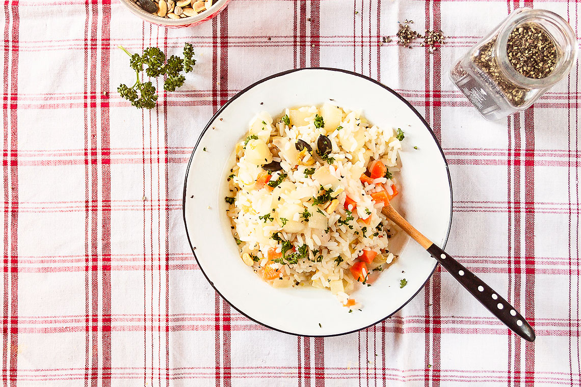 no-fuss Vegan endive risotto
