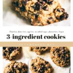 Flourless, gluten-free delicious cookies that require only 3 ingredients