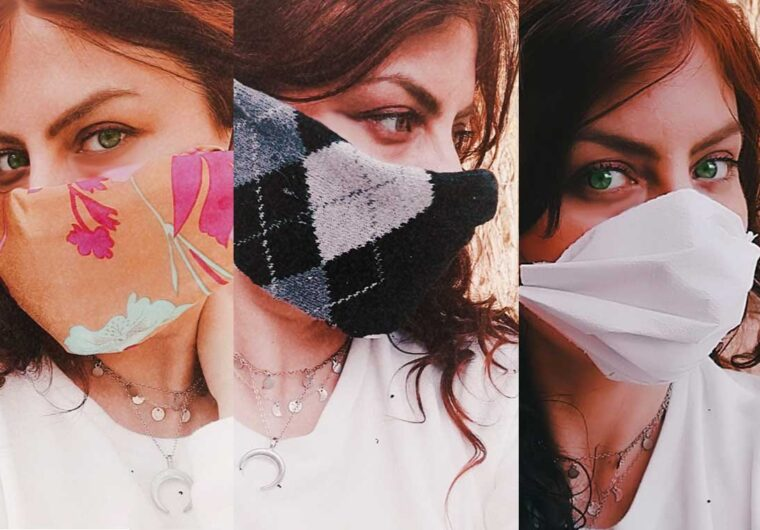 How to make a quick DIY no-sew face mask at home - 3 ways!