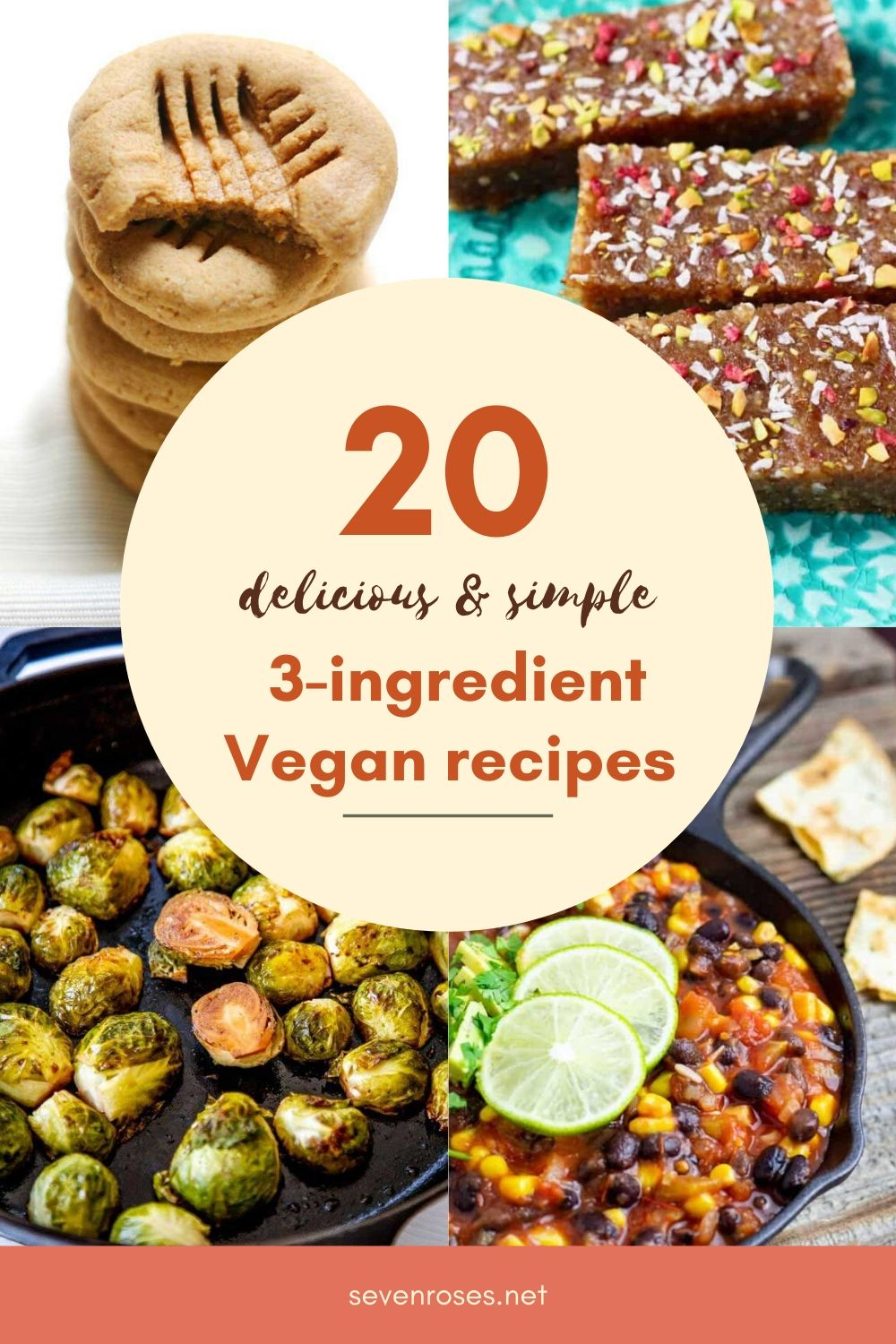 Need some quick Vegan recipe ideas? Here are 20 delicious & simple 3-ingredient recipes