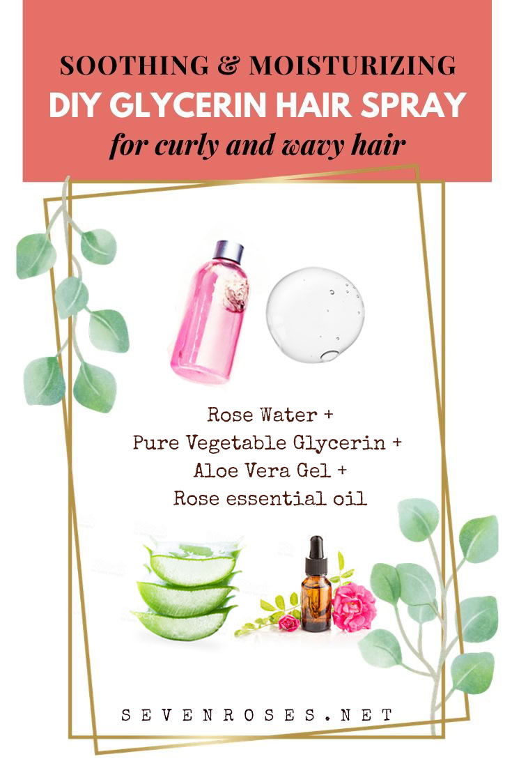 The ingredients for your DIY hydrating hair spray