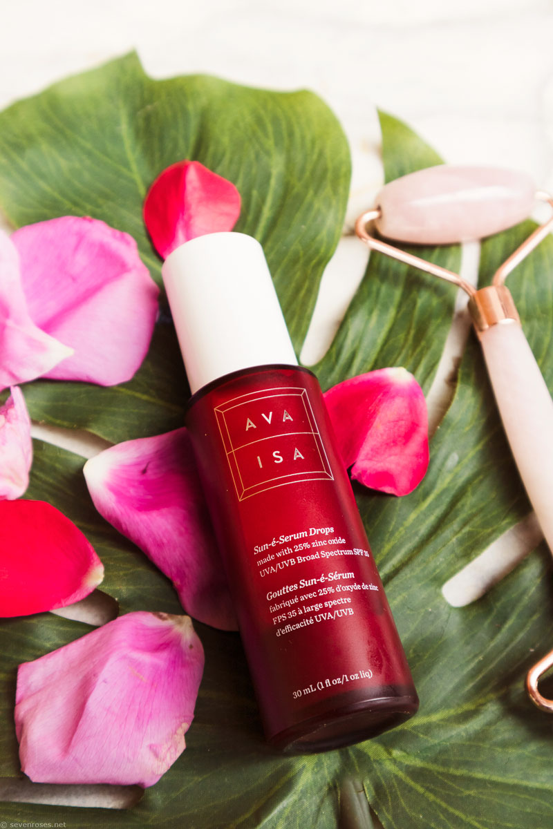 The BEST sunscreen with no white residue for summer & beyond: Ava Isa Sun-è-Serum Drops SPF 35