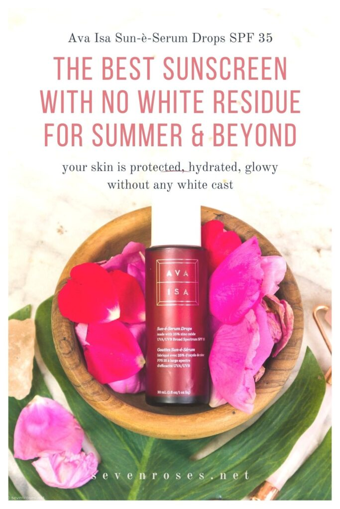 The BEST sunscreen with no white residue for summer & beyond