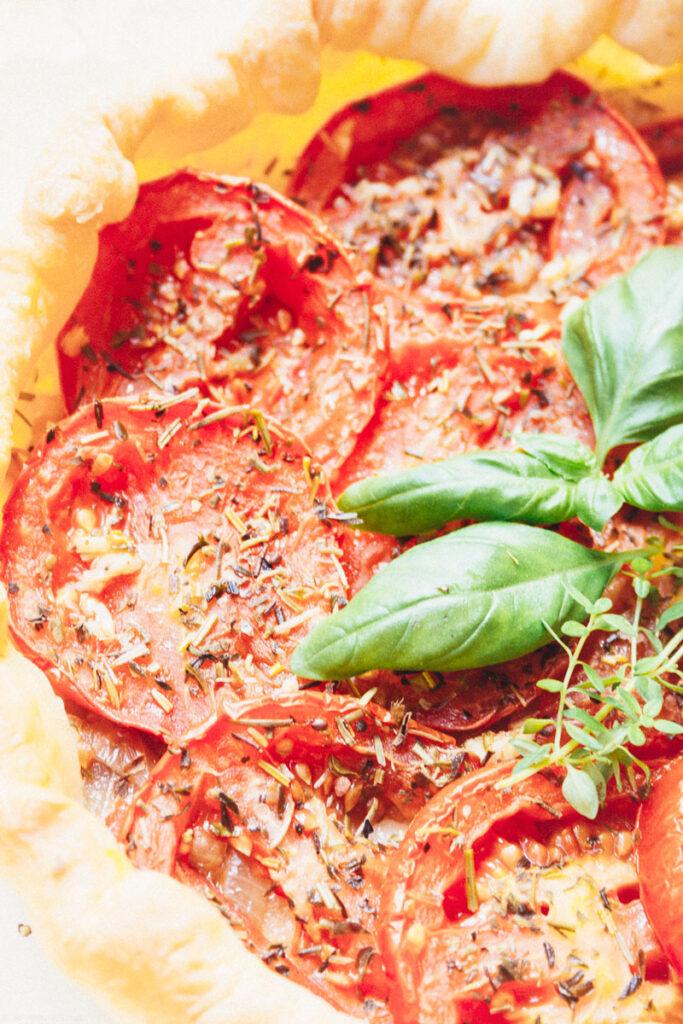 tomato tart close-up