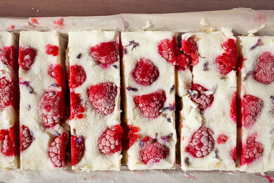 A fresh summer snack made with yogurt and fresh berries