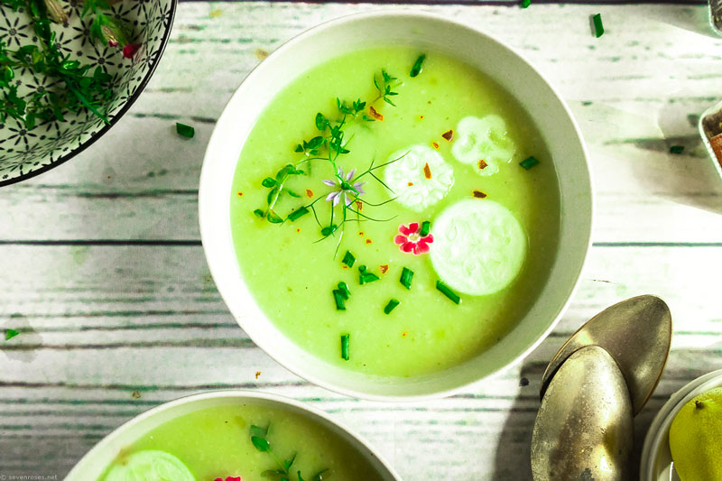 this creamy, velvety, chilled soup is ideal for summer