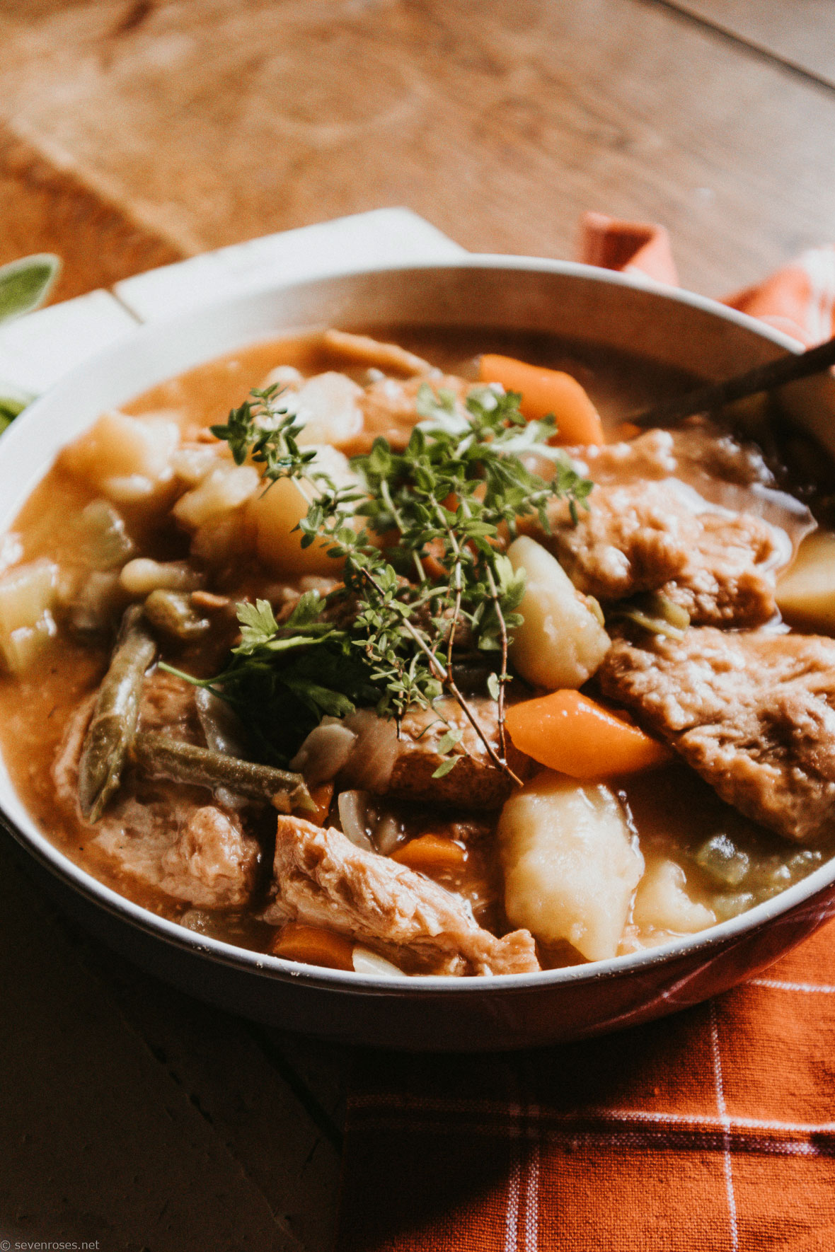 Hearty Vegan stew for fall and winter