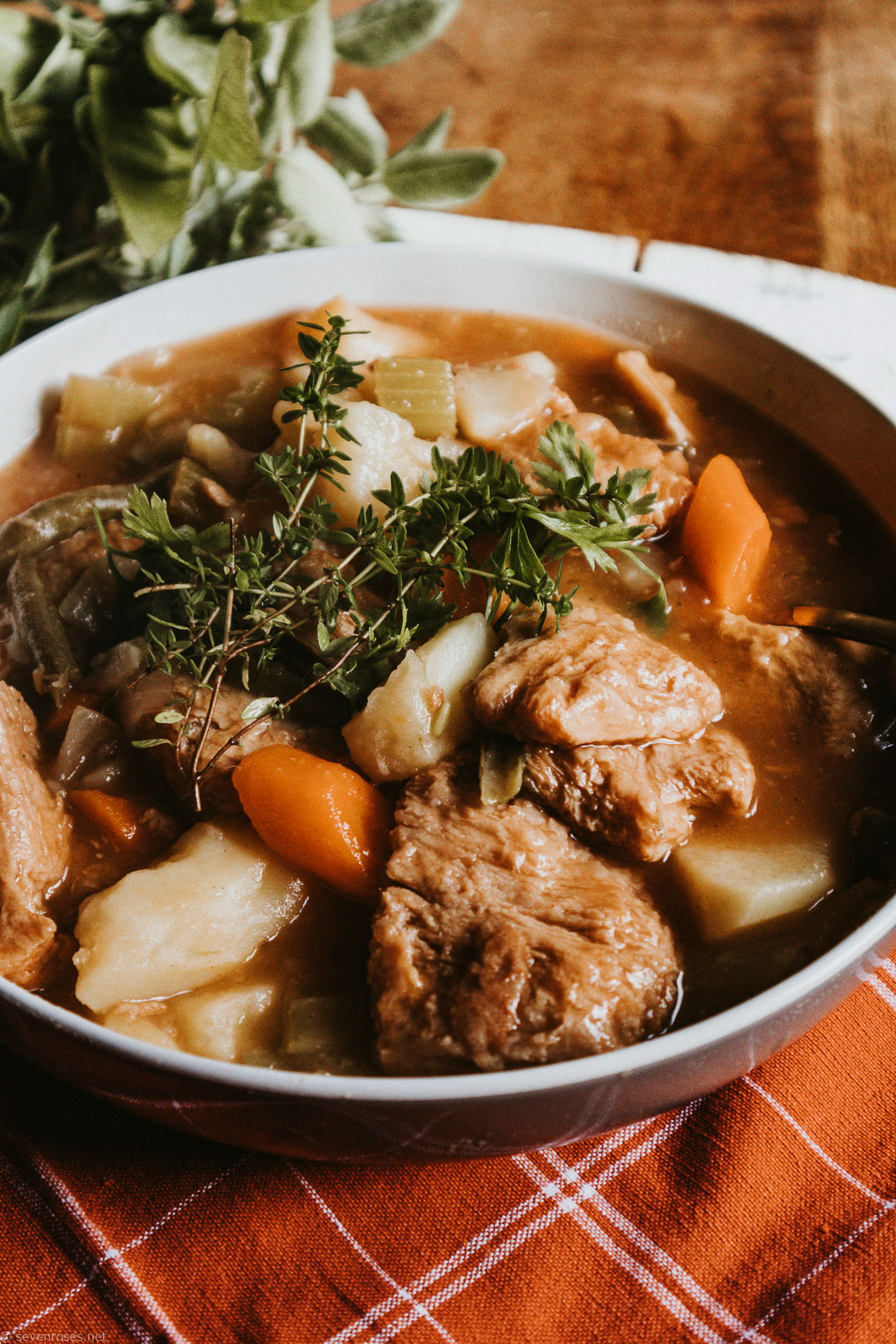 Hearty Vegan stew for the Starch Solution
