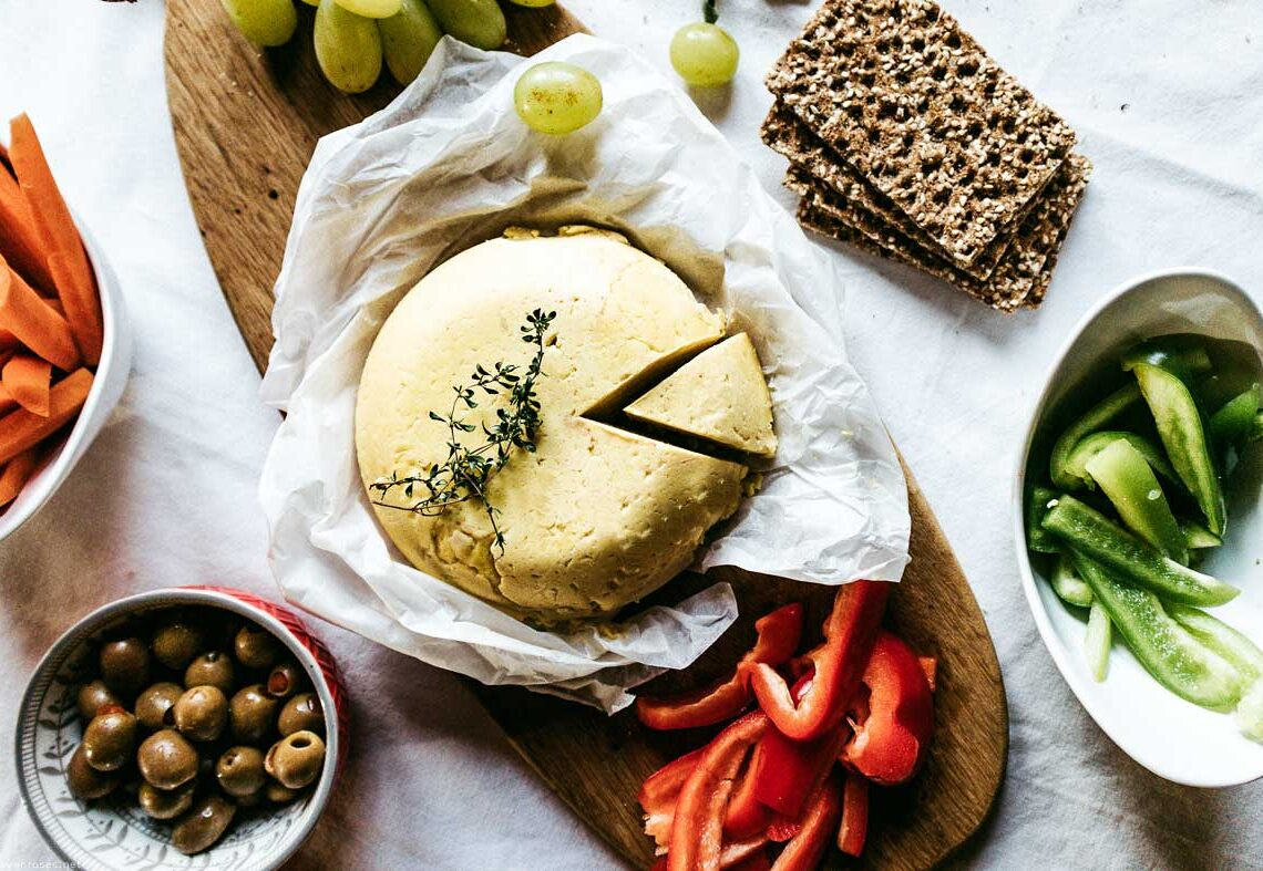 Easy Caciotta Vegan cheese with chickpea flour