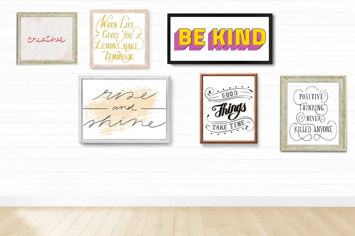 Create a DIY inspirational gallery wall with free fonts